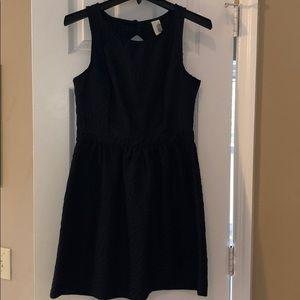 Francesca's Navy Blue Dress with Cutout Back